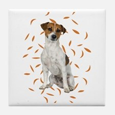 Autumn Jack Russell Terrier Tile Coaster