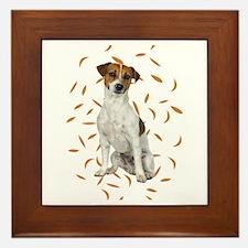 Autumn Jack Russell Terrier Framed Tile