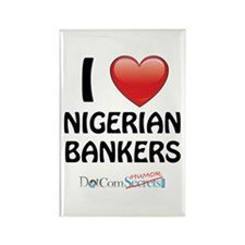 I Love Nigerian Bankers Rectangle Magnet