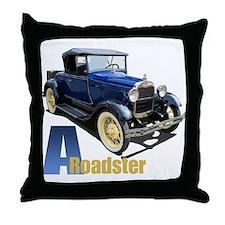 A Blue Roadster Throw Pillow
