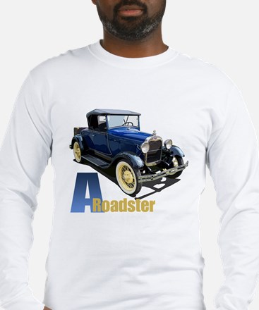 A Blue Roadster Long Sleeve T-Shirt