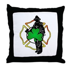 Irish Fire Symbols Throw Pillow