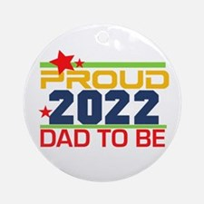 2016 Proud Dad to Be Round Ornament