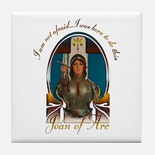 Joan of Arc Nouveau Tile Coaster