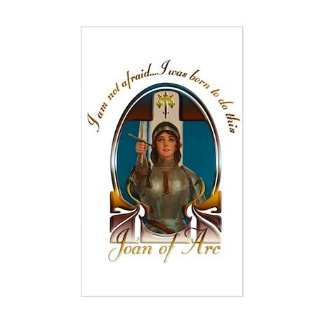 Joan of Arc Nouveau Sticker (Rectangle)