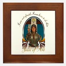 Joan of Arc Nouveau Framed Tile