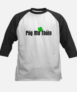 Pog Mo Thoin Text Kids Baseball Jersey