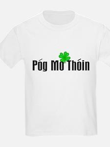 Pog Mo Thoin Text Kids T-Shirt