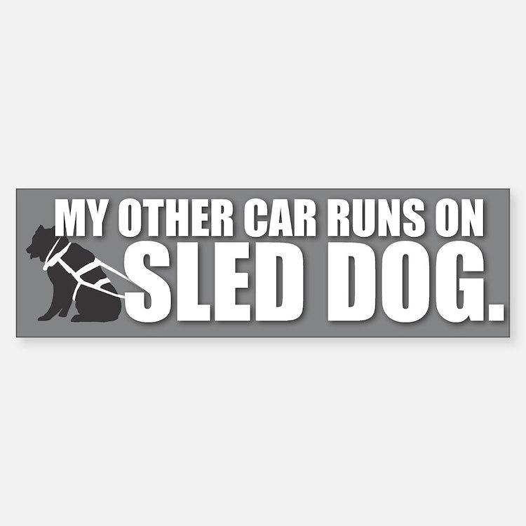 Sled Dog Bumper Bumper Bumper Sticker