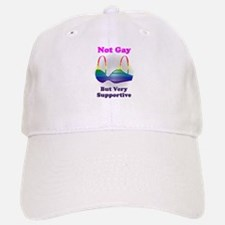 Not Gay But I'm Very Supporti Baseball Baseball Cap
