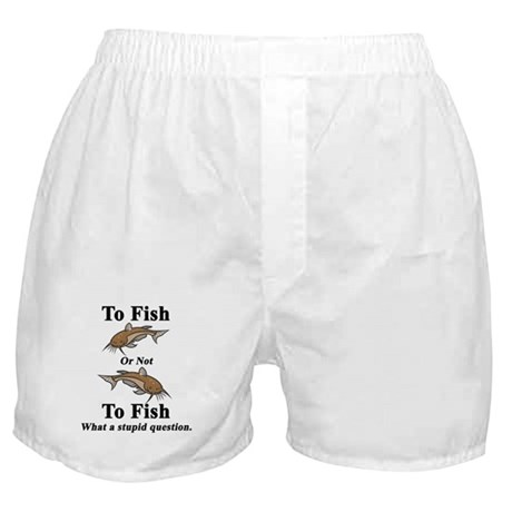 Catfish To Fish or Not to Fis Boxer Shorts