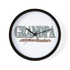 GRANDPA extraordinaire Wall Clock