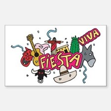 Viva Fiesta Rectangle Decal
