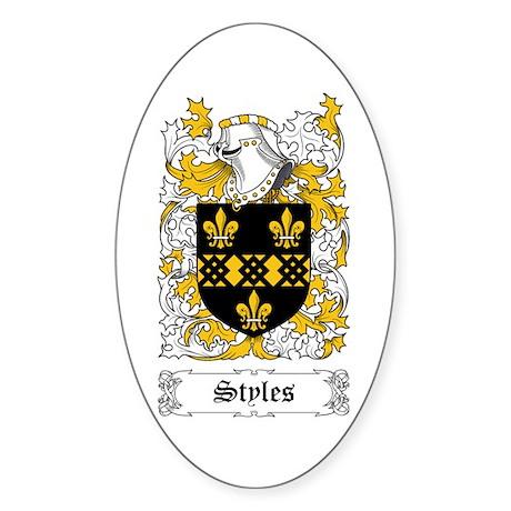 Styles Sticker (Oval)