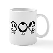 Peace Love Row Small Small Mug