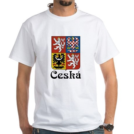 Czech White T-Shirt
