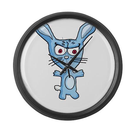 Cutesy the evil bunny Large Wall Clock
