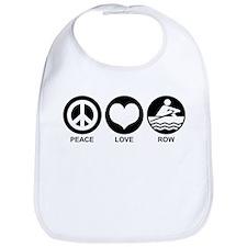 Peace Love Row Bib