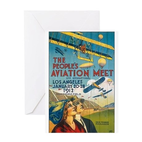 The People's Aviation Meet Greeting Card