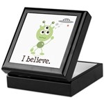I Believe Alien UFO Keepsake Box