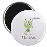 I Believe Alien UFO Magnet