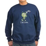 I Believe Alien UFO Sweatshirt (dark)