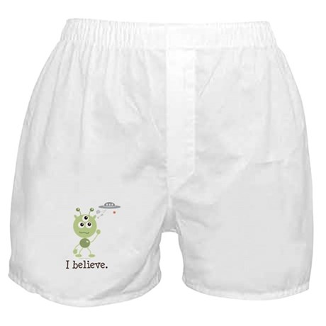 I Believe Alien UFO Boxer Shorts