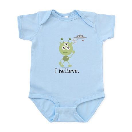 I Believe Alien UFO Infant Bodysuit