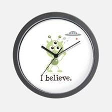 I Believe Alien UFO Wall Clock
