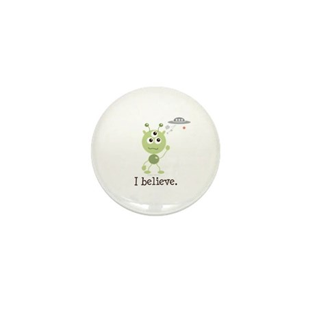 I Believe Alien UFO Mini Button (10 pack)