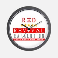 Rafalution Red Revival Wall Clock