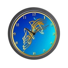 Golden Notes Wall Clock
