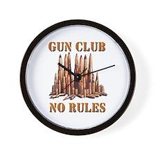 Gun Club Wall Clock