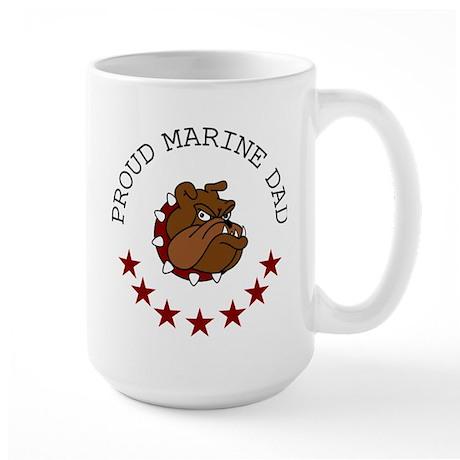 Proud Marine Dad Large Mug