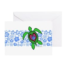 ILY Hawaii Turtle Greeting Card
