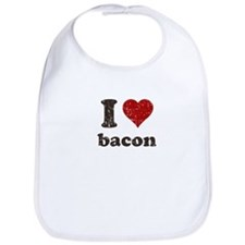 I heart bacon Bib
