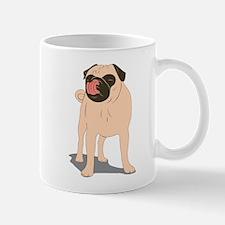 Pug Licking Mug