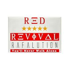 Rafalution Red Revival Rectangle Magnet