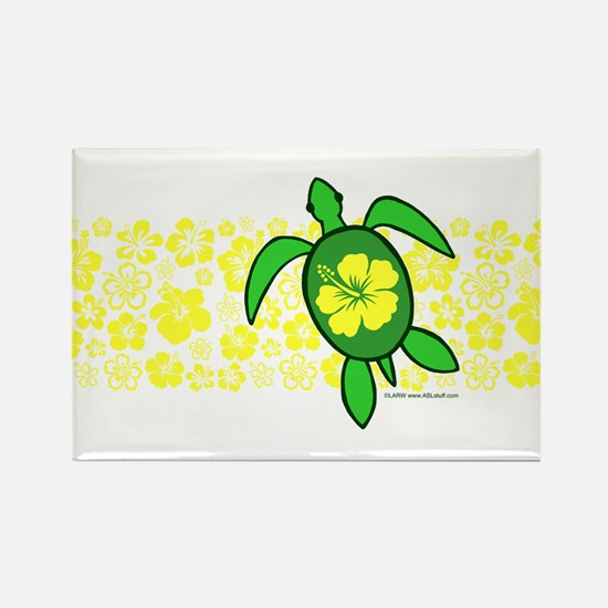 Hawaii Turtle Rectangle Magnet