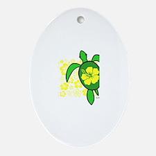 Hawaii Turtle Ornament (Oval)