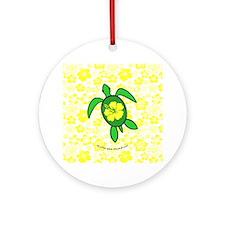 Hawaii Turtle Ornament (Round)