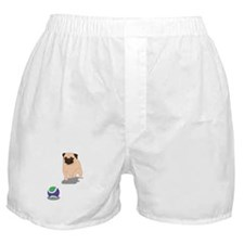 Fawn Pug Lunging Boxer Shorts