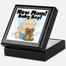 New Mom Baby Boy Keepsake Box