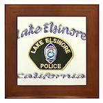 Lake Elsinore Police Framed Tile