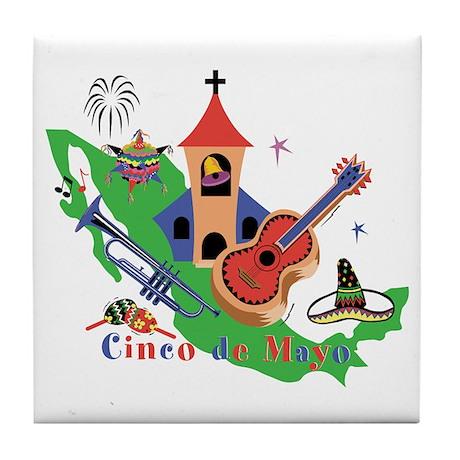 Cinco de Mayo Tile Coaster