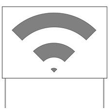 Cute Wifi Yard Sign