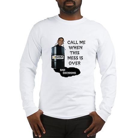 SLICK AND OILY BARACK Long Sleeve T-Shirt