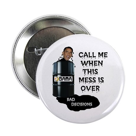 "SLICK AND OILY BARACK 2.25"" Button"