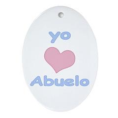 I Heart Grandpa Spanish Ornament (Oval)