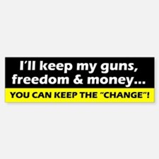 Keep My Guns, Freedom & Money Bumper Bumper Bumper Sticker